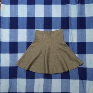 New! Zara Knit Flare Grey Skirt Small